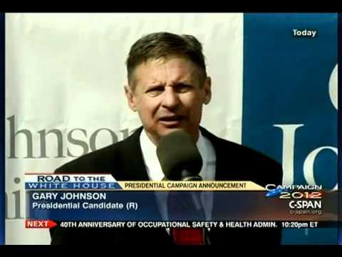 Gary Johnson Presidential Announcement