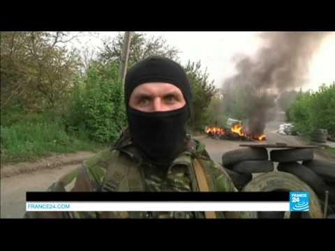 Ukraine : reportage à Slaviansk ce matin avant l'assaut des militaires ukrainiens
