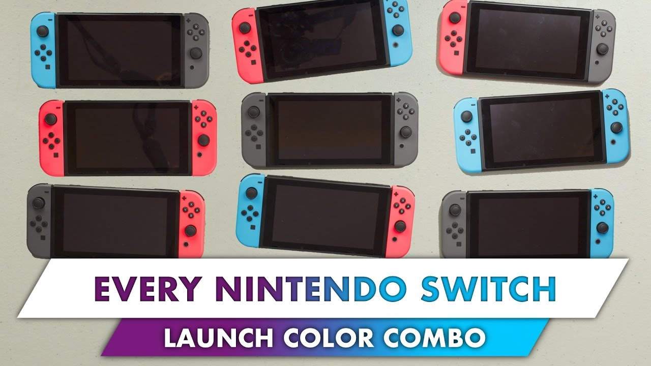 Color Combo every nintendo switch joy-con launch color combination! - youtube