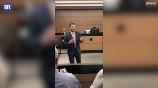 Heart-warming moment lawyer orchestrates