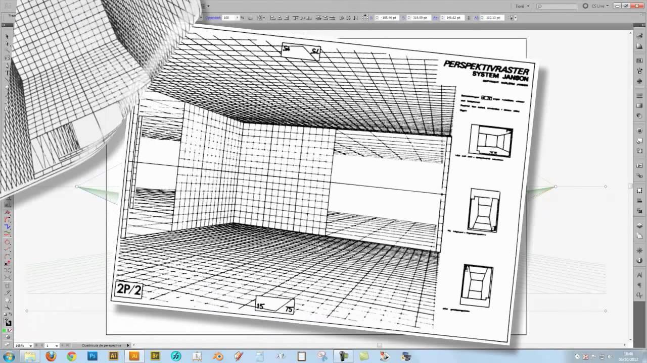 Uso de cuadrículas en perspectiva, tanto analógicas como digitales ...