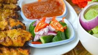 How To Make Thai Peanut Sauce & Cucumber Salad  น้ำจิ้มสะเต๊ะ อาจาด