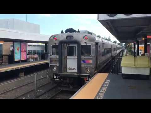 2 NJT trains at Asbury Park, NJ 6/24/18