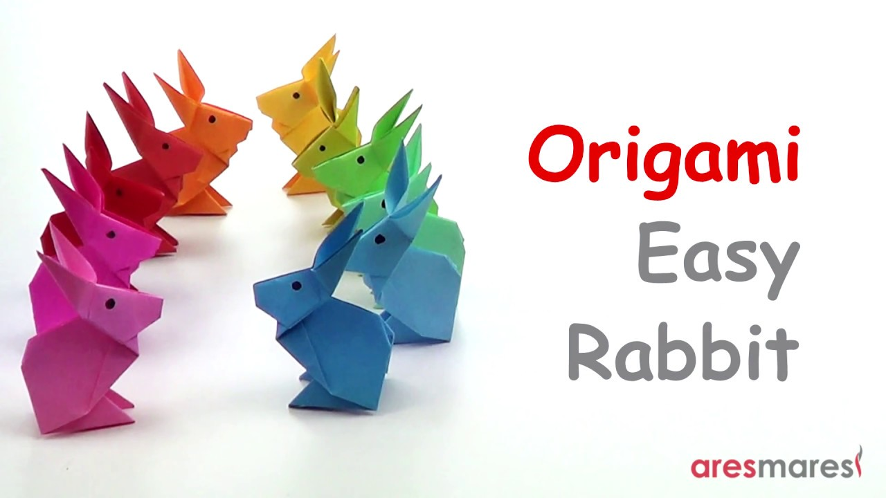 Easy Origami – Rabbit | Easy origami animals, Origami easy, Kids ... | 720x1280