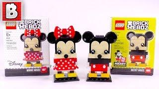 LEGO Mickey & Minnie BrickHeadz! | Unbox Build Time Lapse Review