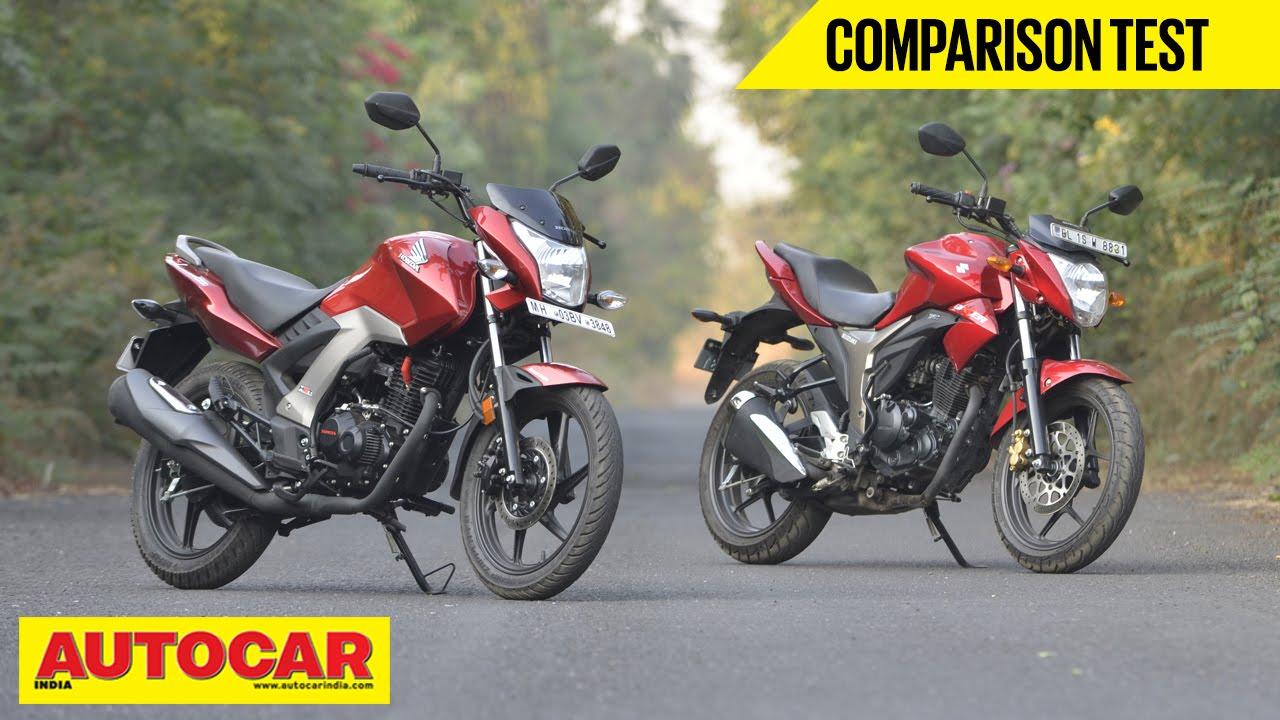 Honda Cb Unicorn 160 Vs Suzuki Gixxer Comparison Test Autocar