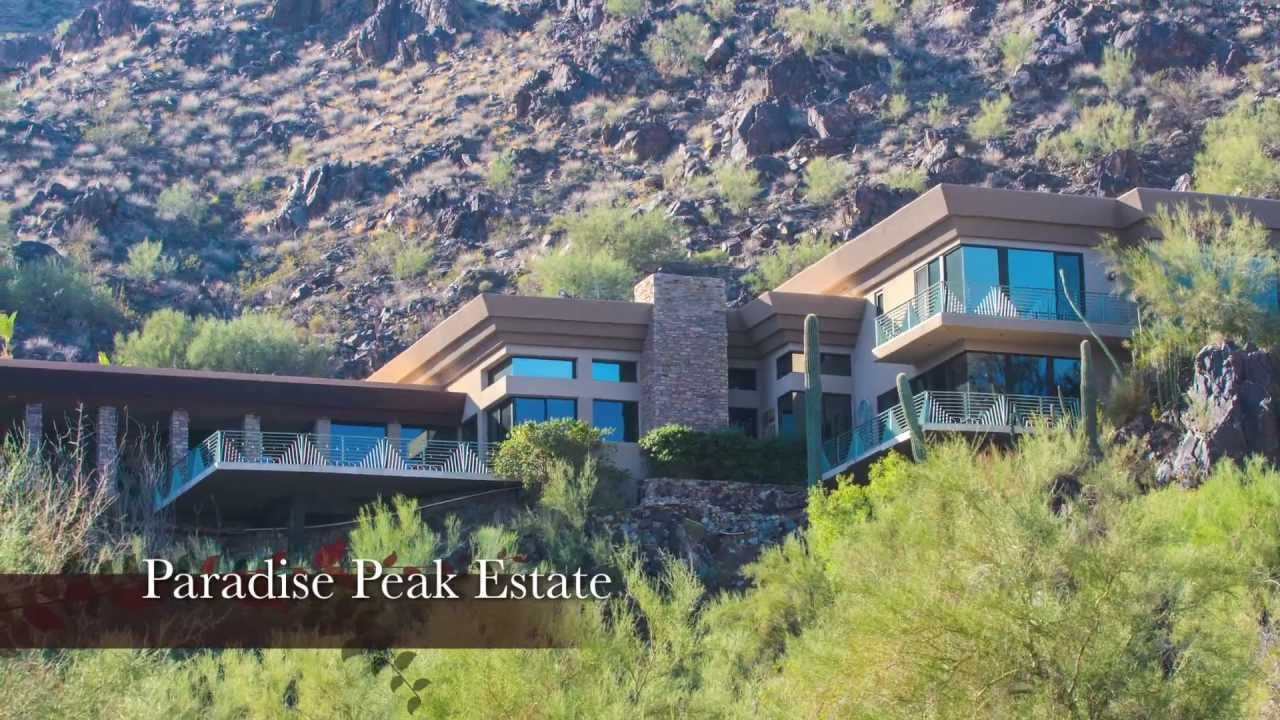 Paradise Valley Arizona Luxury Property For Sale By Auction | Contemporary  Mountainside Estate   YouTube