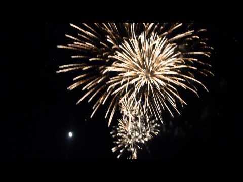 2012 Canada Day Fireworks In Kenora, Ontario.