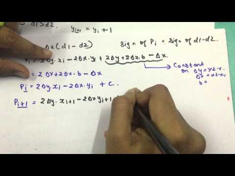 Bresenham Line Drawing Algorithm Derivation : Bresenham line drawing algotithm part example youtube