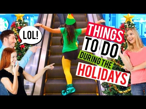 Fun Things to Do When You're Bored this Christmas!! (Elf SPOOF) | Niki and Gabi