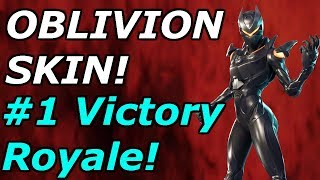 """OBLIVION SKIN"" #1 Victory Royale! 