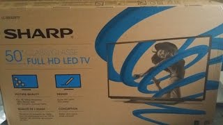 SHARP 50 INCH LC-50LB261U CLASS LED HDTV FULL HD TV BLACK FRIDAY UNBOXING 1080p 12/1/2014
