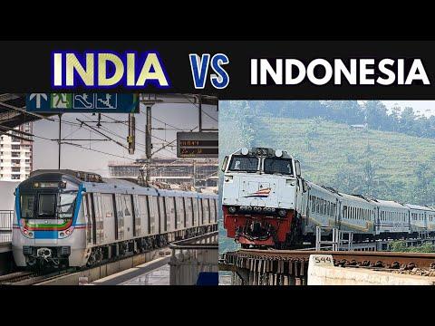 Indian Railway Vs Indonesia Railway | 2019 - 2020