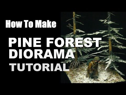 How to Make Scale Pine Forest Diorama scale terrain tutorial
