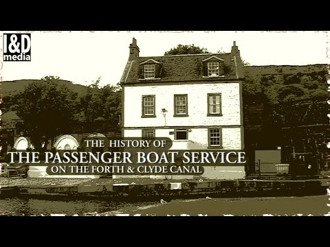 Canal History -  Forth & Clyde Canal - Passenger Service 1800s - 1940s Glasgow / Edinburgh