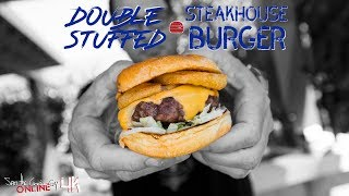 What's better than a steakhouse burger? A cheesy double stuffed version. SUBSCRIBE: http://bit.ly/stcgsub | MERCH: http://bit.ly/M_A_C_A WATCH NEXT ...