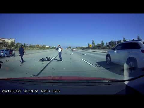 Dashcam motorcycle accident,
