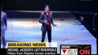 Michael Jackson This Is It Concert Rehearsals Video Footage Tuesday June 23, 2009