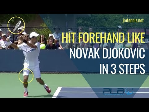 Tennis Forehand - Hit Forehand Like Novak Djokovic in 3 Step