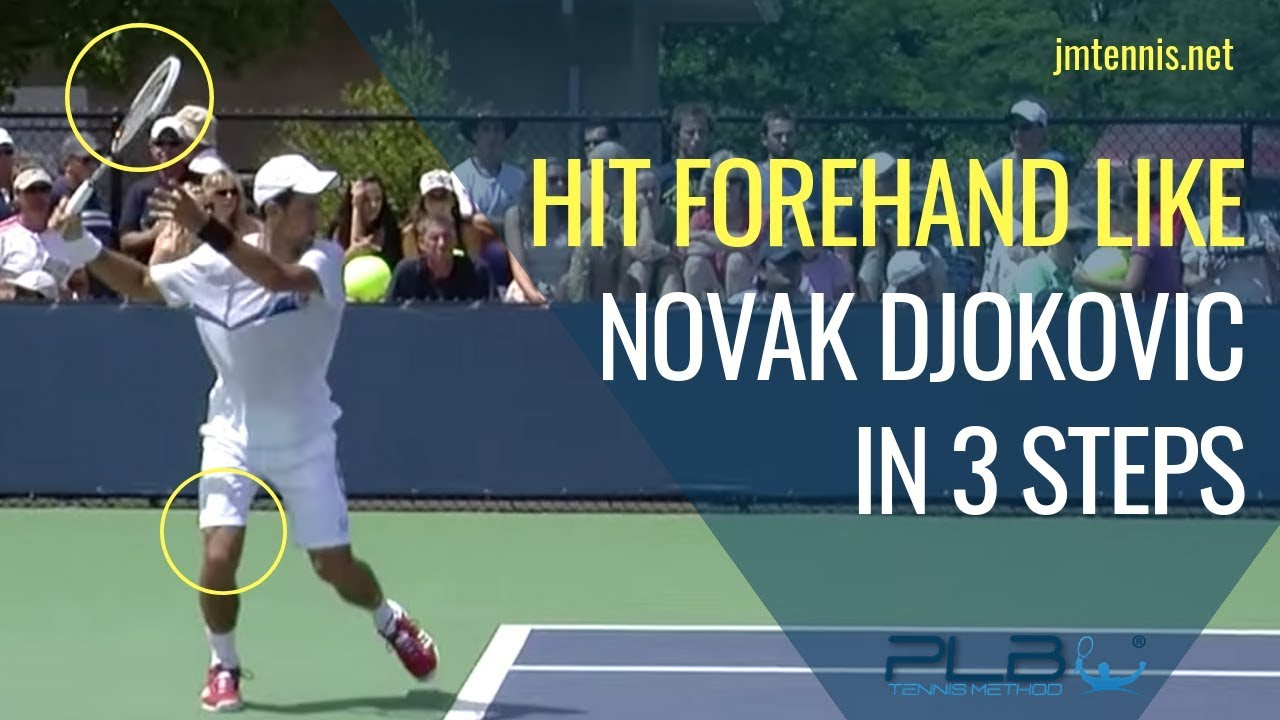 How To Hit Forehand Like Novak Djokovic In 3 Steps I Jm Tennis Online Tennis Training Programs Youtube