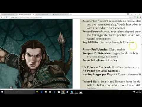 DND 4e Step By Step Character Creation