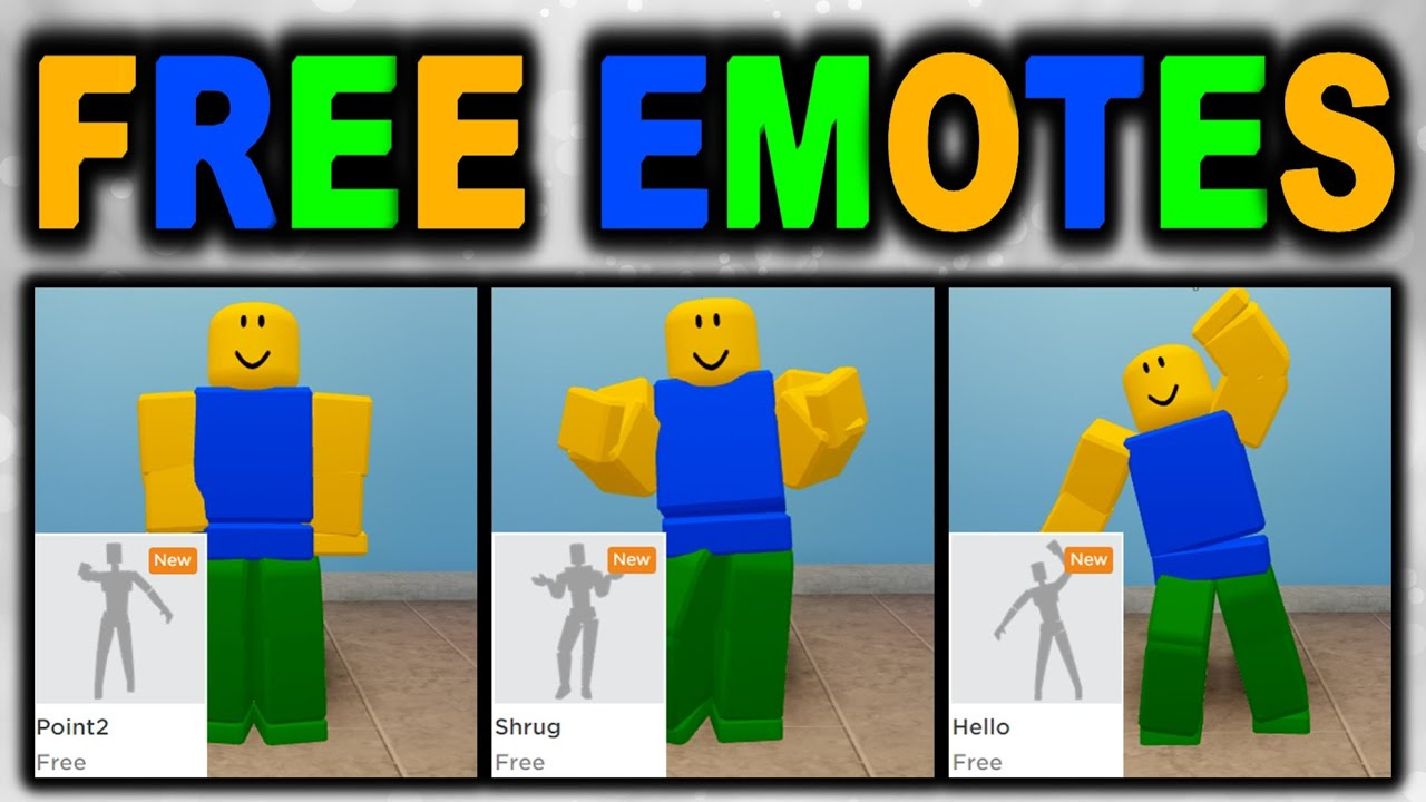 New Roblox Emotes Free - New Roblox Emotes Get 3 Free Emotes