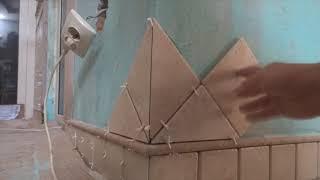 Строительные хитрости при укладки ковра на стены, часть 2.