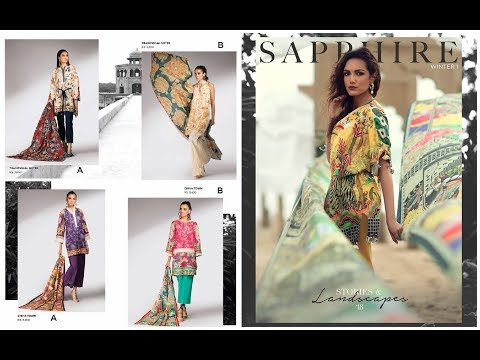 Sapphire New Arrival Unstitched 3 Piece Winter Collection 2018(Stories and Landscapes)