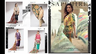 Baixar Sapphire New Arrival Unstitched 3 Piece Winter Collection 2018(Stories and Landscapes)