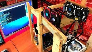 VLOG: Собрал майнинг ферму, новая видеокарта, сделал каркас из дров