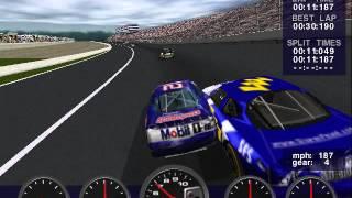 NASCAR Revolution PC Race #19 Gameplay (Jeremy Mayfield) (Atlanta) (9 Laps)