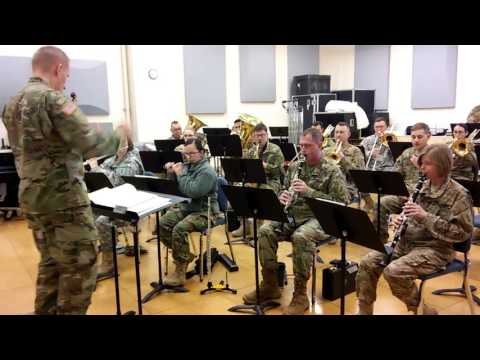 1st Infantry Division band prepares for holiday band concert