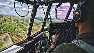 KC-130J Super Hercules Low Level Flight & Air Drop