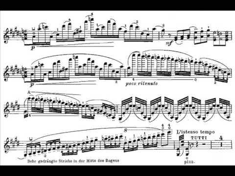 Wieniawski, Henryk mvt1(begin) 1st violin concerto op.14 Allegro moderato