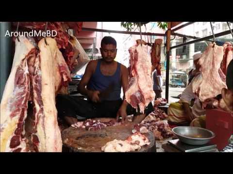Beef Market  Muslim Bazar Cow Meat Processing Dhaka Bangladesh