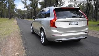 2016 Volvo XC90 T6 0-100km/h & engine sound