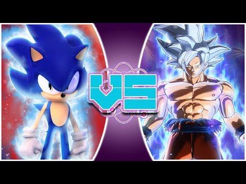 ULTRA SONIC vs ULTRA INSTINCT GOKU! Animated Movie   (Sonic vs Goku Animation)   REWIND RUMBLE