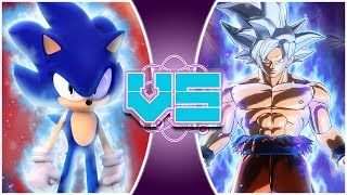 ULTRA SONIC vs ULTRA INSTINCT GOKU! Animated Movie | (Sonic vs Goku Animation) | REWIND RUMBLE