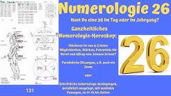 Ganzheitliche Numerologie - die Zahl 26