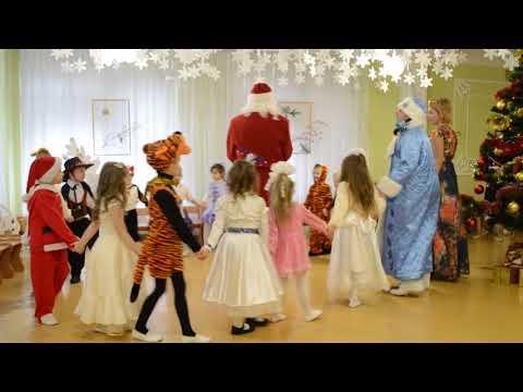 Веселые игры с Дедом Морозом на новогоднем утреннике в детском саду