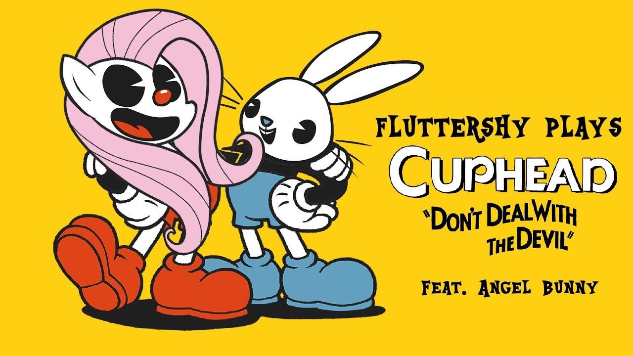 fluttershy-plays-cuphead-hilarious-w-angel-bunny