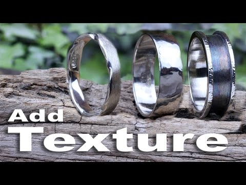 How to add texture to 3 silver rings Hammered Oxidised Satin (using Fretz Hammers)