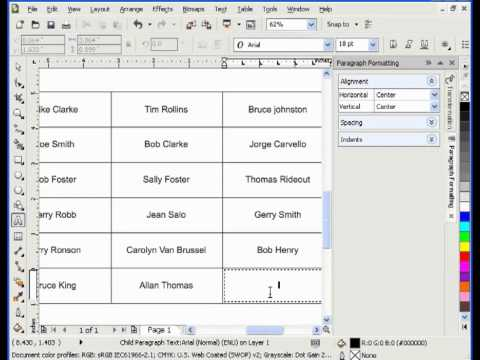 Working with Tables in CorelDraw mp4