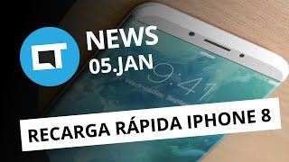 iPhone 8 com recarga rápida, fraude no Snapchat, CES 2017 e + [CT News]