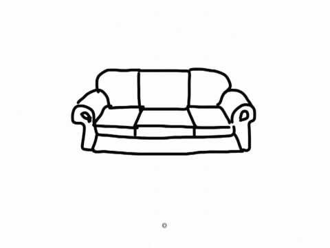 Easy drawings #230 How to draw a furniture / chair table ...
