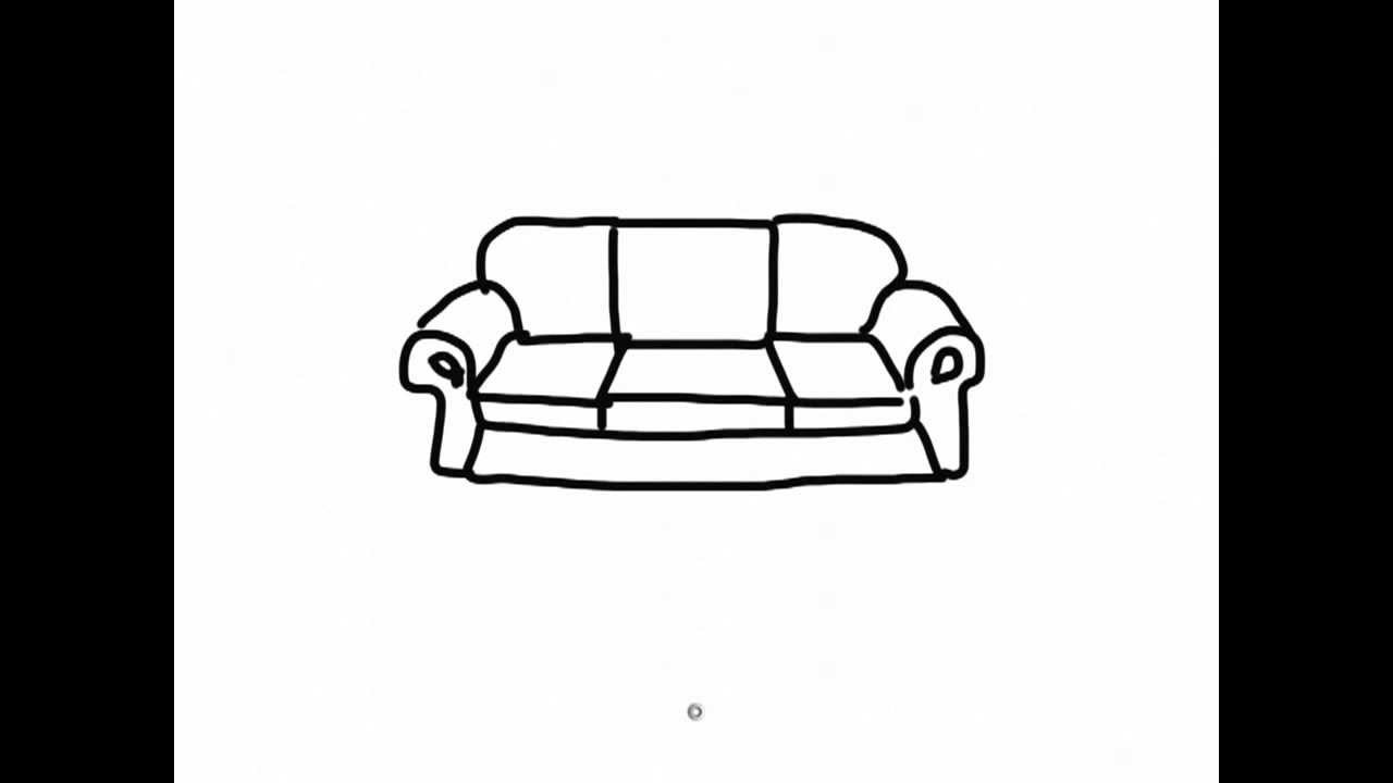 IPad Draw A Simple Cartoon Sofa 2