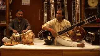 Indian sitar player