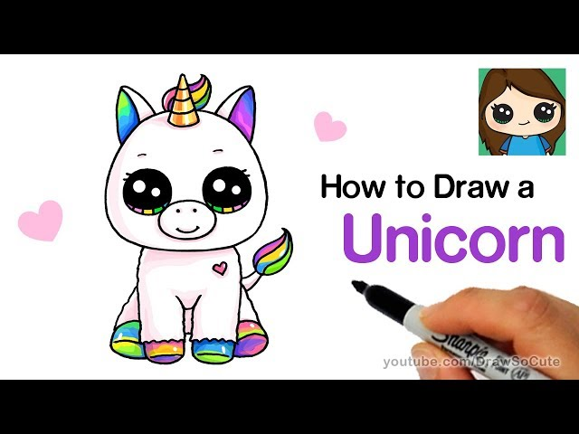 How to Draw a Unicorn easy - clipzui.com