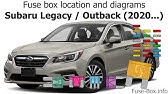 2011 subaru outback fuse diagram fuse box location and diagrams subaru outback  2015 2019  youtube  fuse box location and diagrams subaru