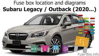 Fuse box location and diagrams: Subaru Legacy / Outback (2020...)